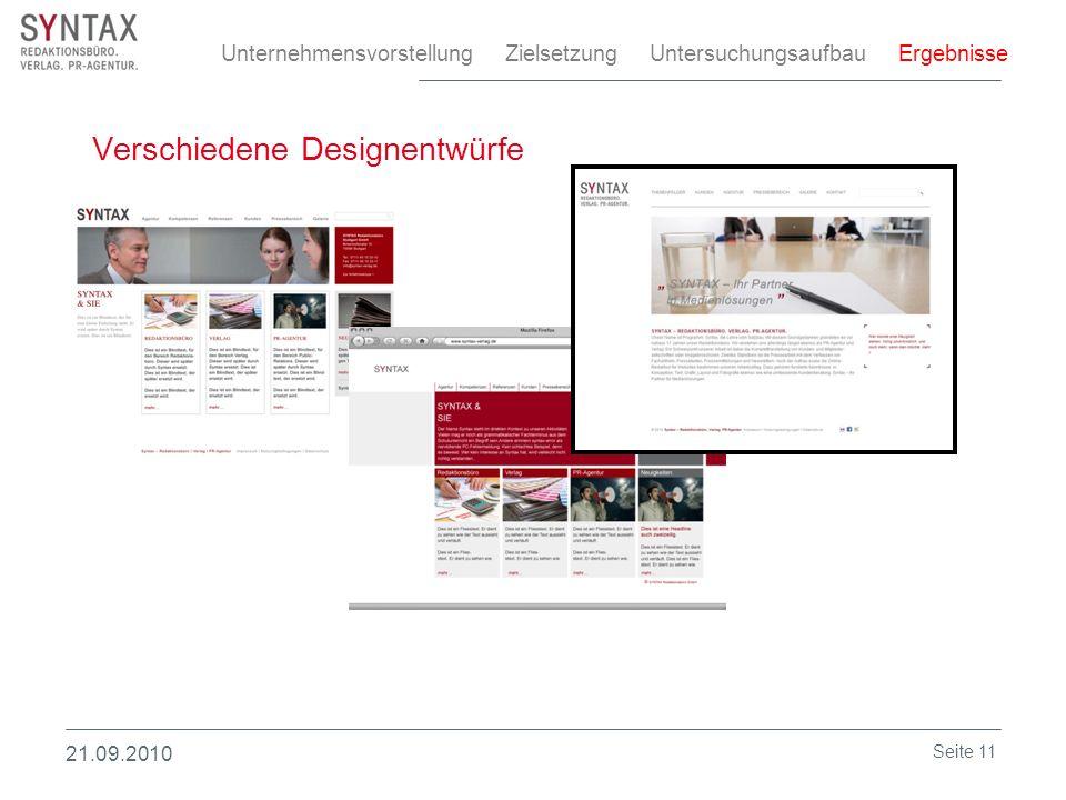 Verschiedene Designentwürfe