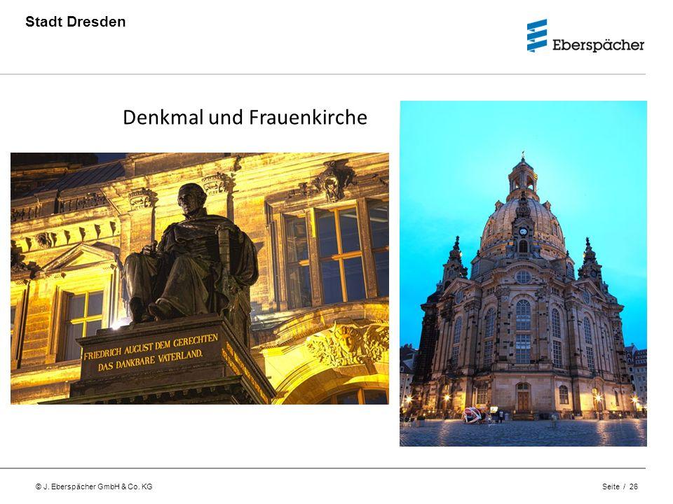 Denkmal und Frauenkirche