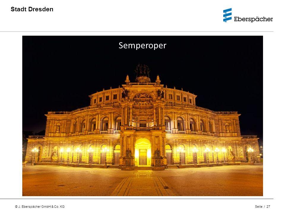 Stadt Dresden Semperoper