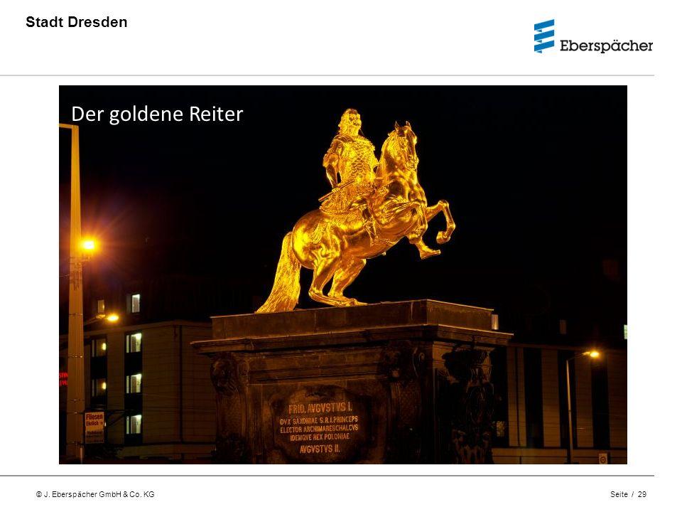 Stadt Dresden Der goldene Reiter