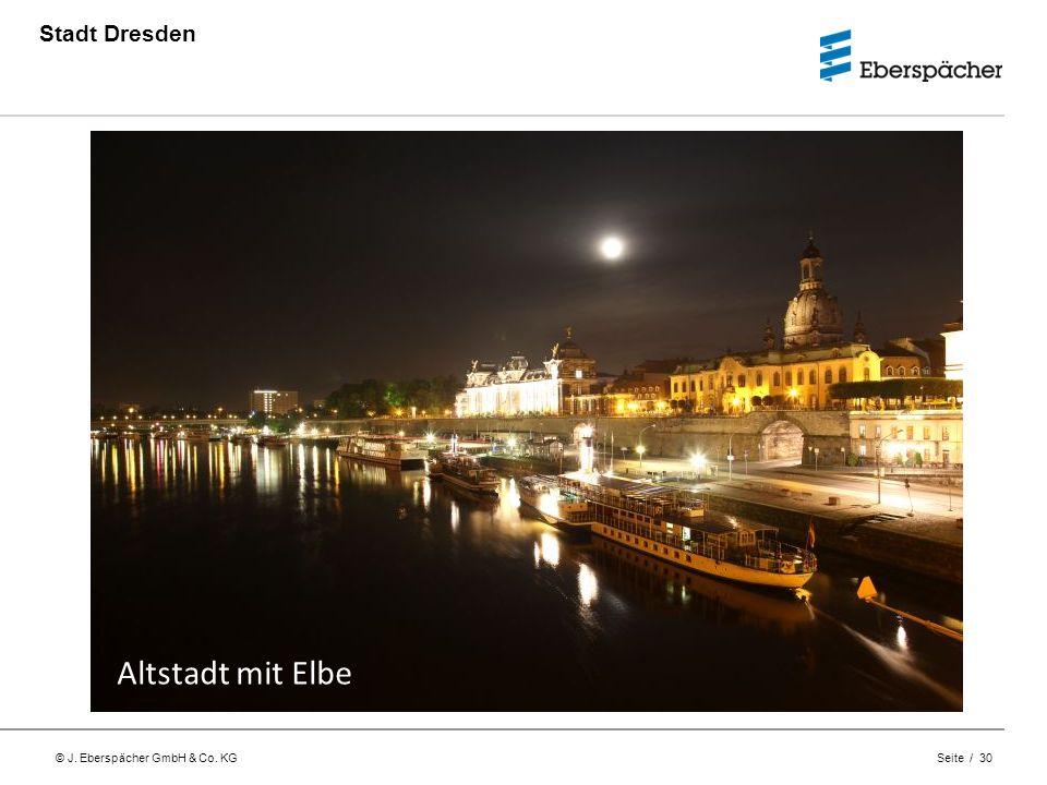 Stadt Dresden Altstadt mit Elbe