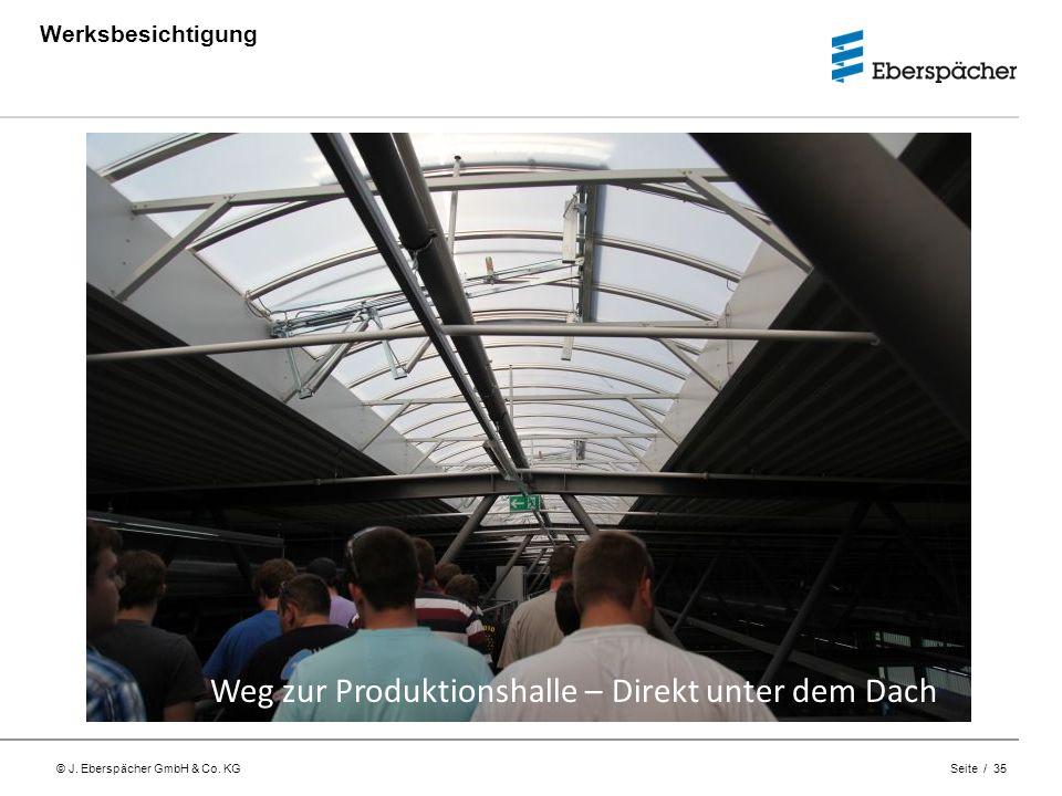 Weg zur Produktionshalle – Direkt unter dem Dach