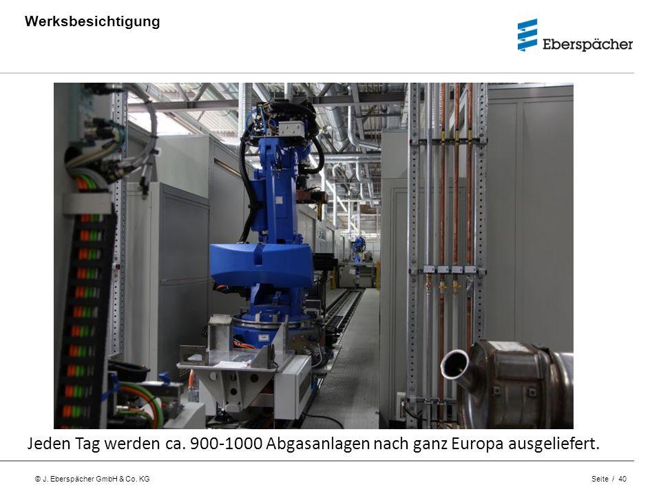 Werksbesichtigung Jeden Tag werden ca. 900-1000 Abgasanlagen nach ganz Europa ausgeliefert.