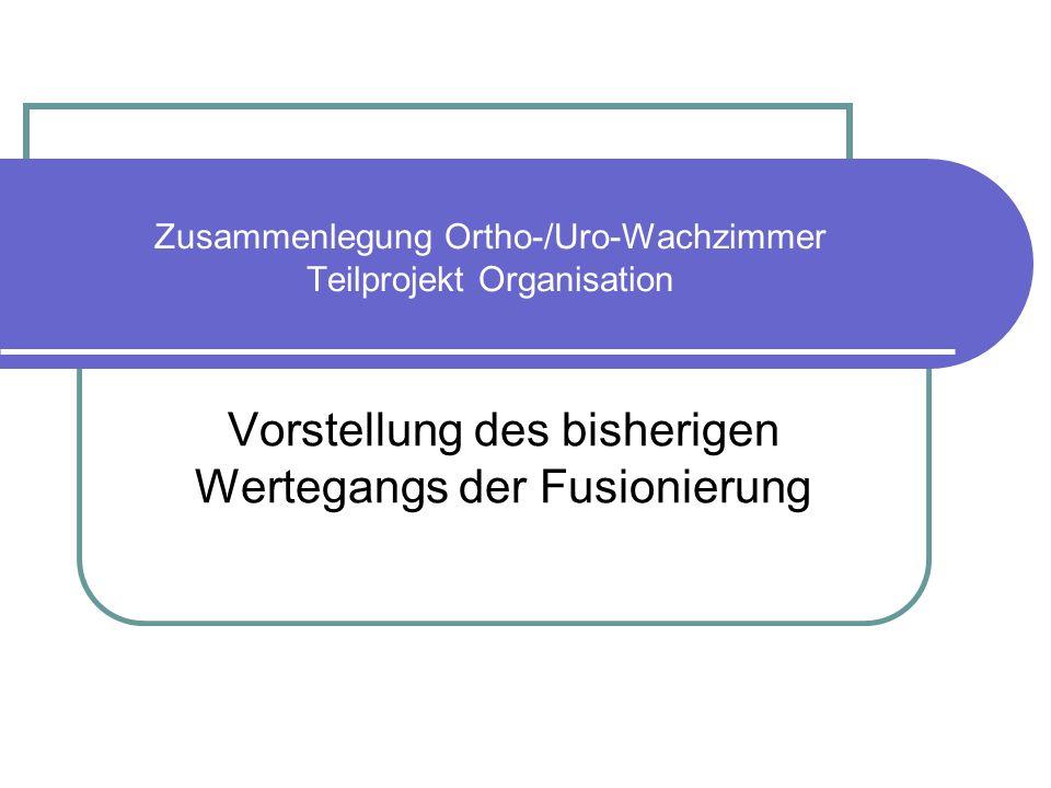 Zusammenlegung Ortho-/Uro-Wachzimmer Teilprojekt Organisation