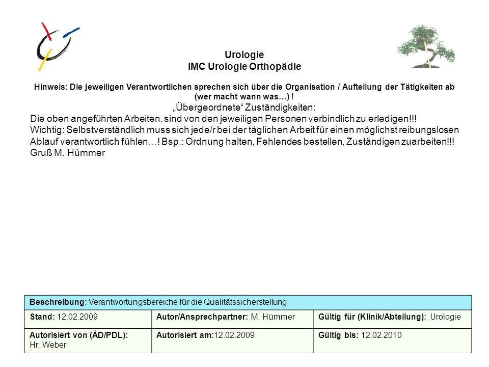 IMC Urologie Orthopädie