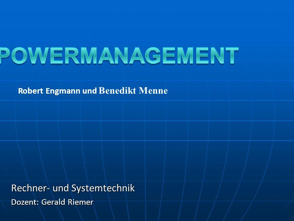 Rechner- und Systemtechnik Dozent: Gerald Riemer