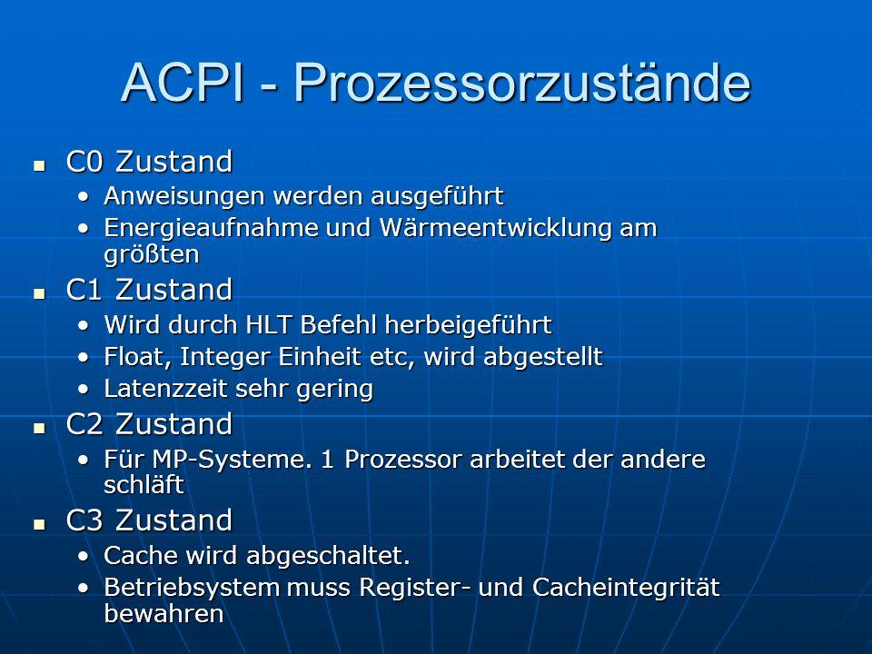 ACPI - Prozessorzustände