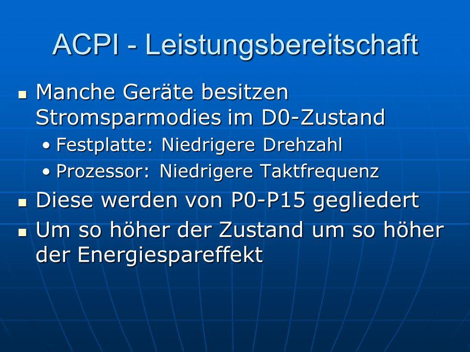 ACPI - Leistungsbereitschaft