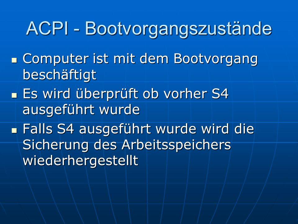 ACPI - Bootvorgangszustände