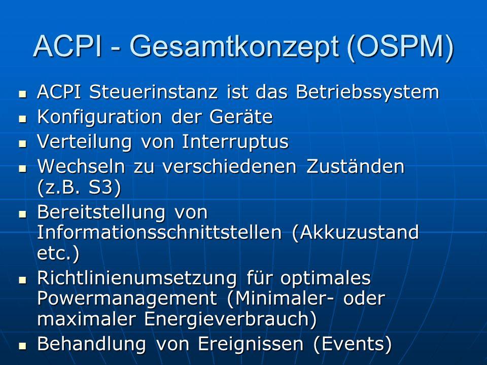 ACPI - Gesamtkonzept (OSPM)