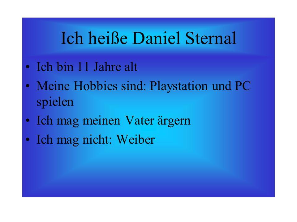 Ich heiße Daniel Sternal