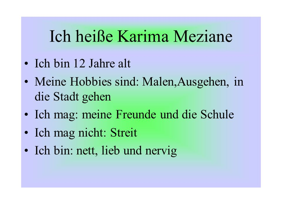 Ich heiße Karima Meziane