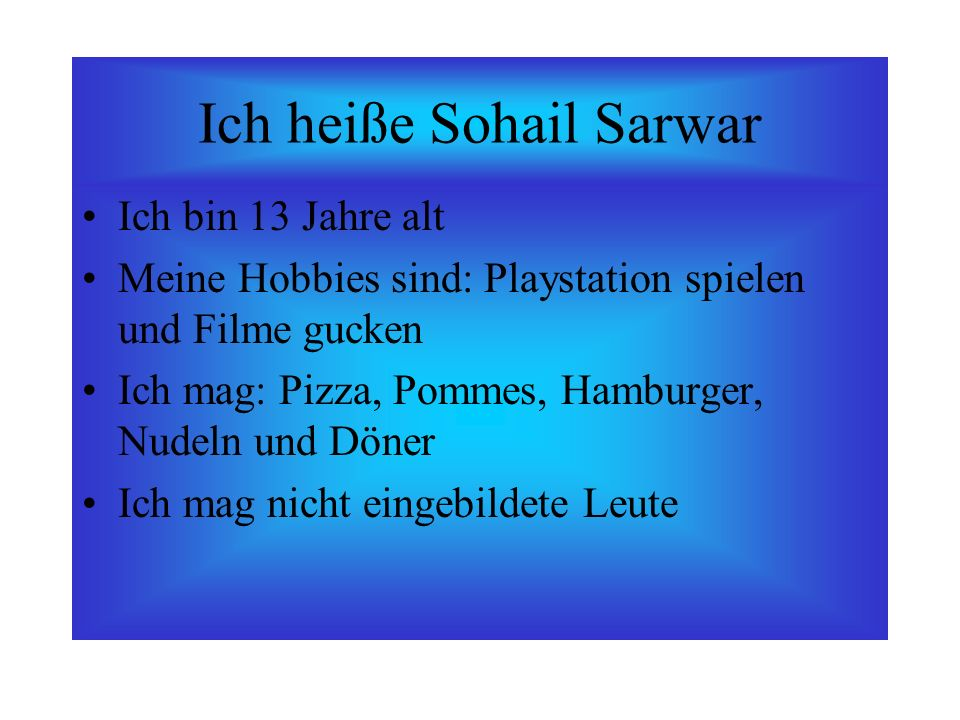 Ich heiße Sohail Sarwar
