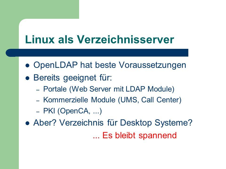 Linux als Verzeichnisserver