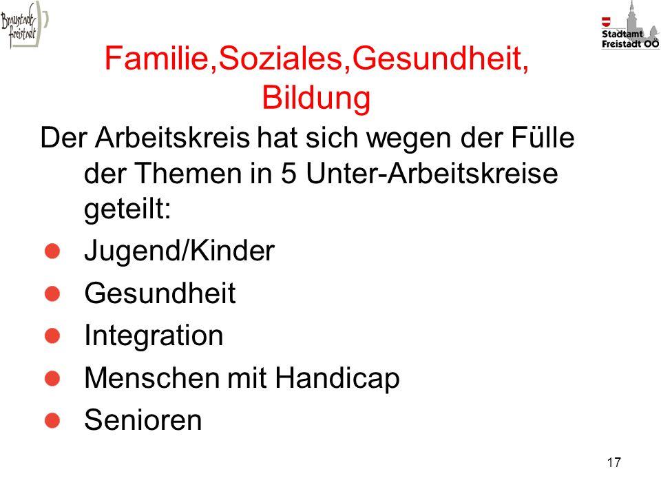 Familie,Soziales,Gesundheit, Bildung