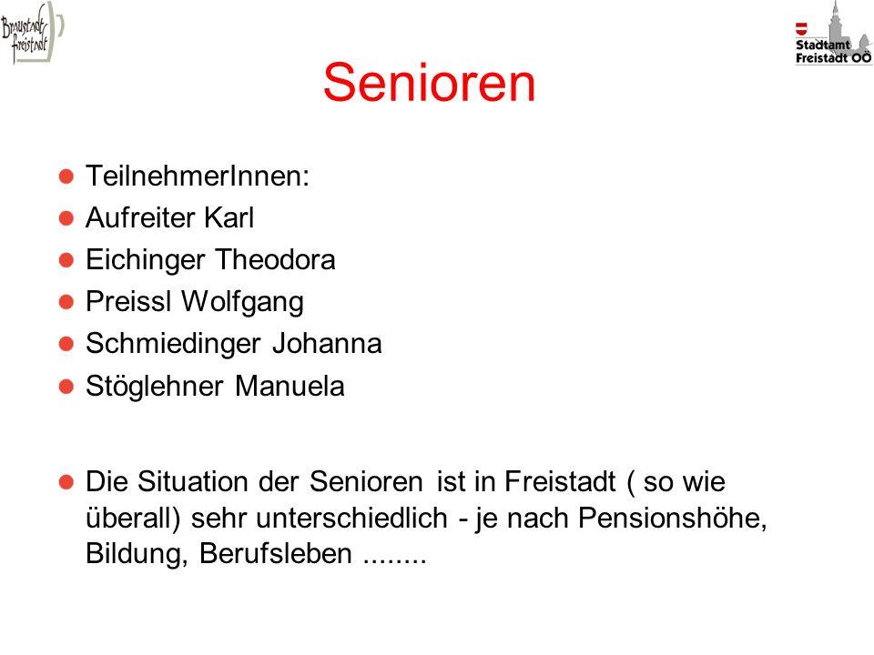 Senioren TeilnehmerInnen: Aufreiter Karl Eichinger Theodora