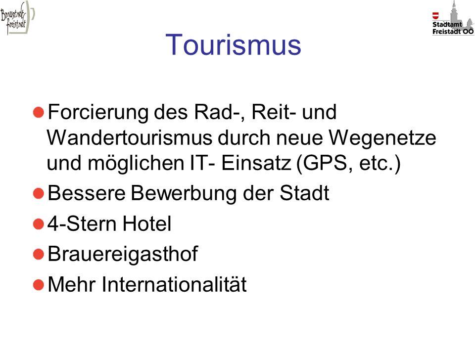 Tourismus Forcierung des Rad-, Reit- und Wandertourismus durch neue Wegenetze und möglichen IT- Einsatz (GPS, etc.)