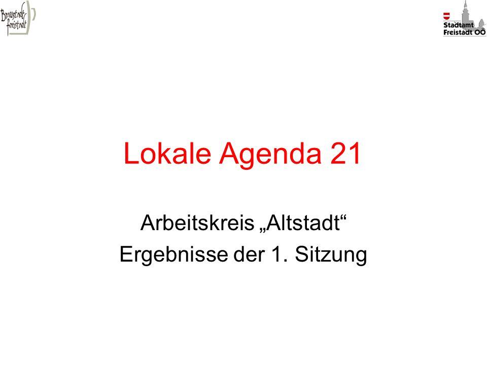 """Arbeitskreis """"Altstadt Ergebnisse der 1. Sitzung"""