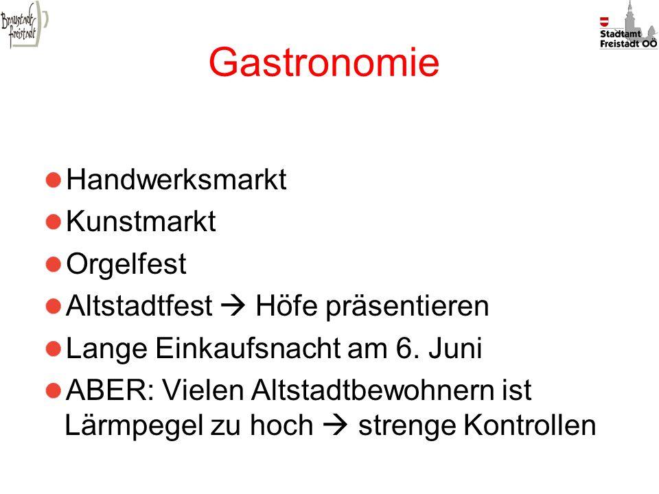Gastronomie Handwerksmarkt Kunstmarkt Orgelfest