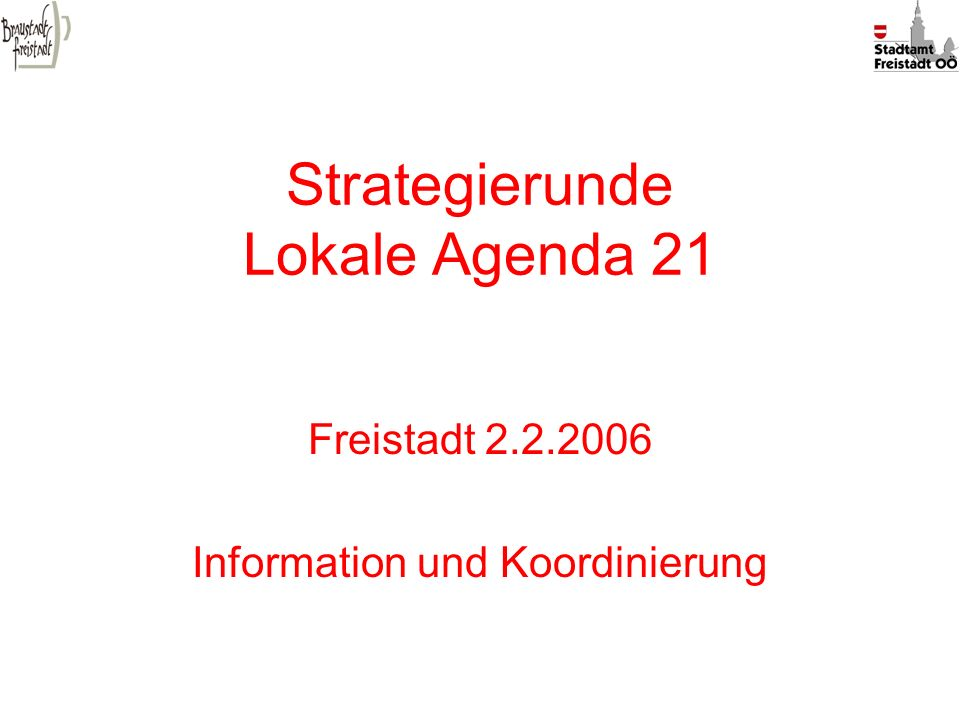 Strategierunde Lokale Agenda 21