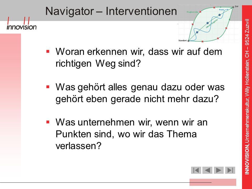 Navigator – Interventionen