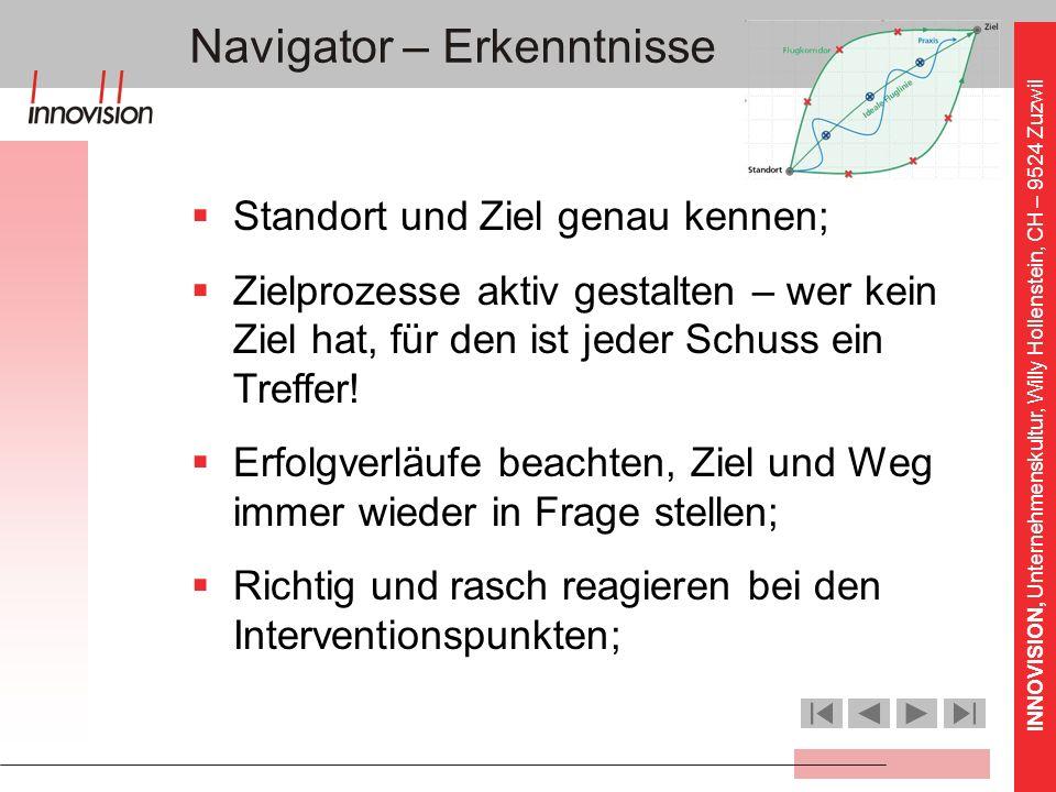 Navigator – Erkenntnisse