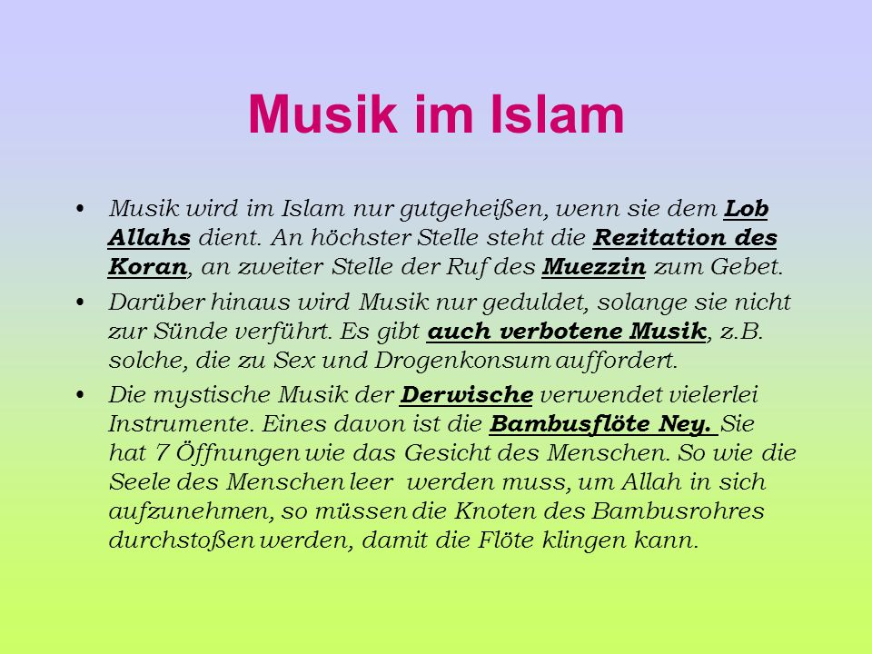 Musik im Islam