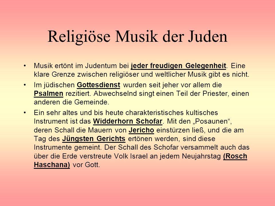 Religiöse Musik der Juden