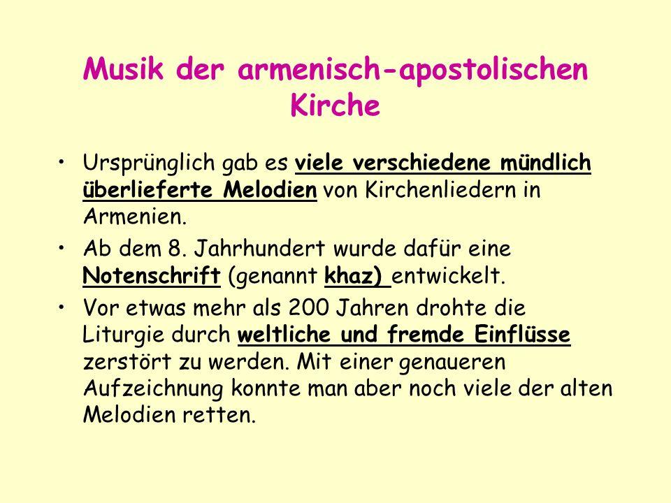 Musik der armenisch-apostolischen Kirche
