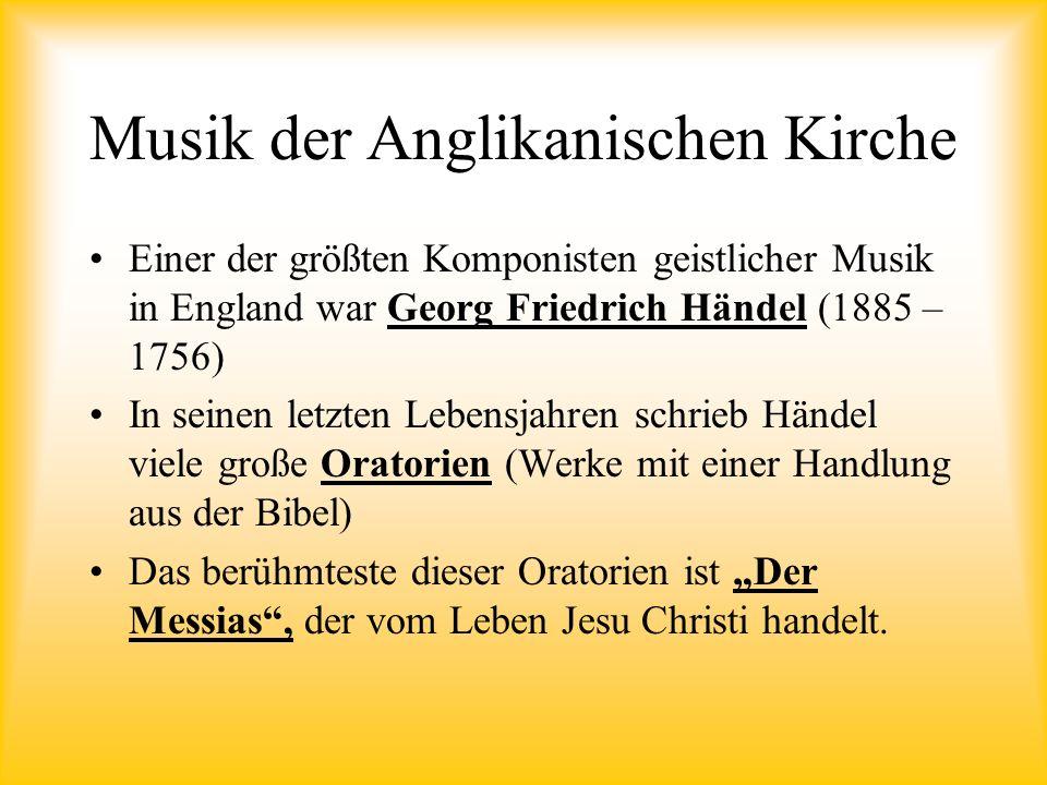 Musik der Anglikanischen Kirche