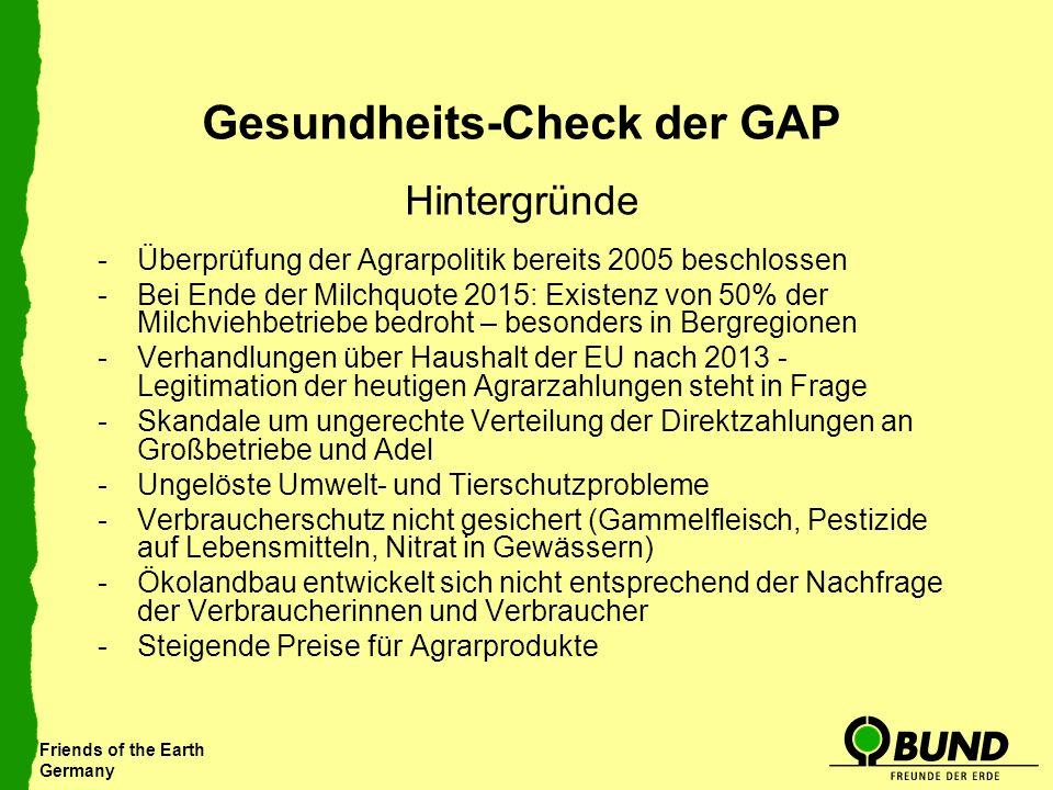 Gesundheits-Check der GAP