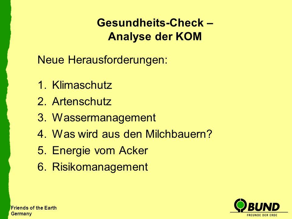 Gesundheits-Check – Analyse der KOM