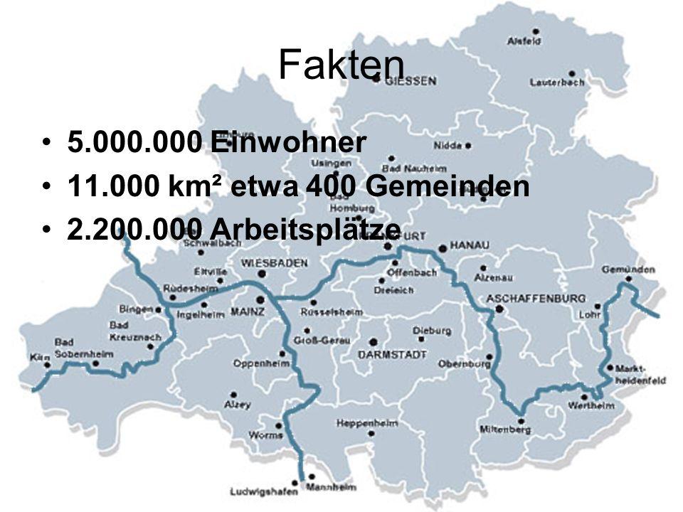 Fakten 5.000.000 Einwohner 11.000 km² etwa 400 Gemeinden