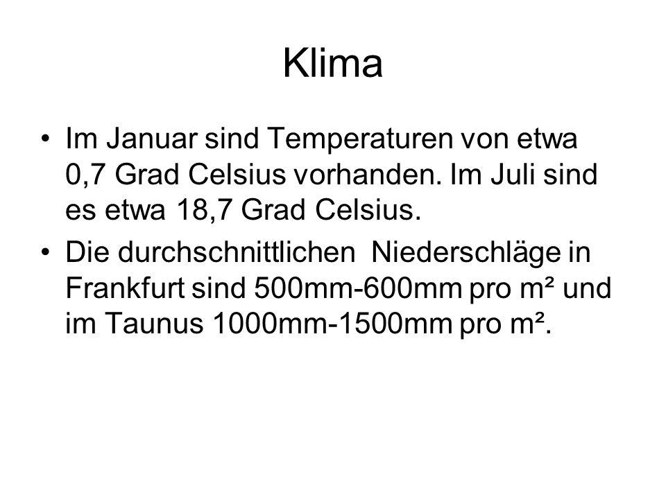 Klima Im Januar sind Temperaturen von etwa 0,7 Grad Celsius vorhanden. Im Juli sind es etwa 18,7 Grad Celsius.