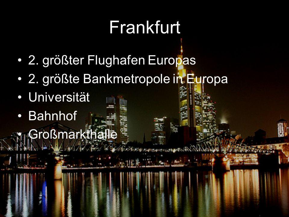 Frankfurt 2. größter Flughafen Europas