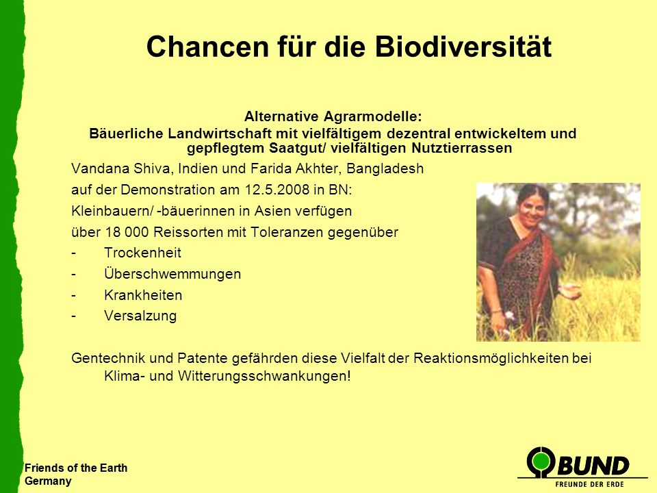 Chancen für die Biodiversität