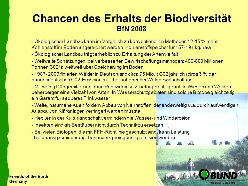 Chancen des Erhalts der Biodiversität BfN 2008