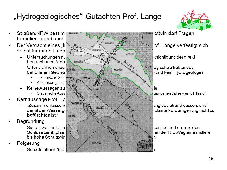 """""""Hydrogeologisches Gutachten Prof. Lange"""