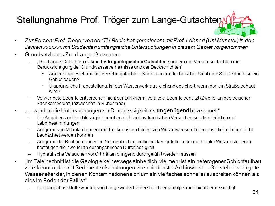 Stellungnahme Prof. Tröger zum Lange-Gutachten