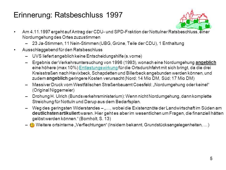 Erinnerung: Ratsbeschluss 1997