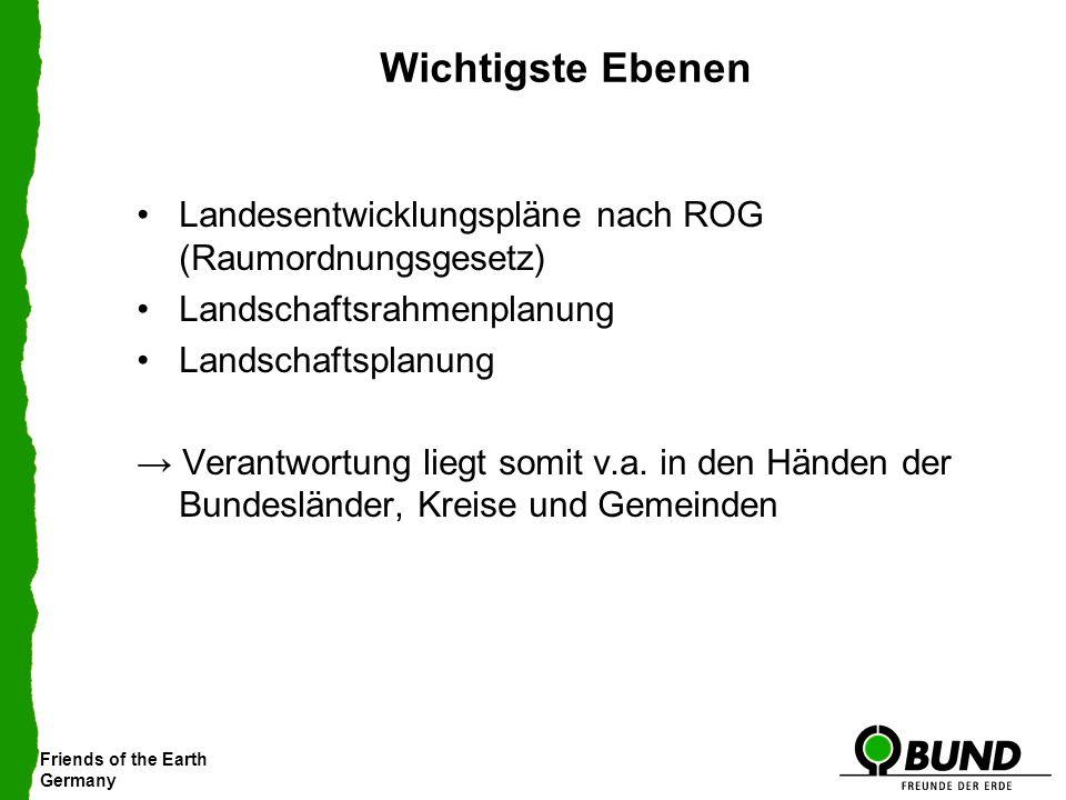 Wichtigste Ebenen Landesentwicklungspläne nach ROG (Raumordnungsgesetz) Landschaftsrahmenplanung. Landschaftsplanung.