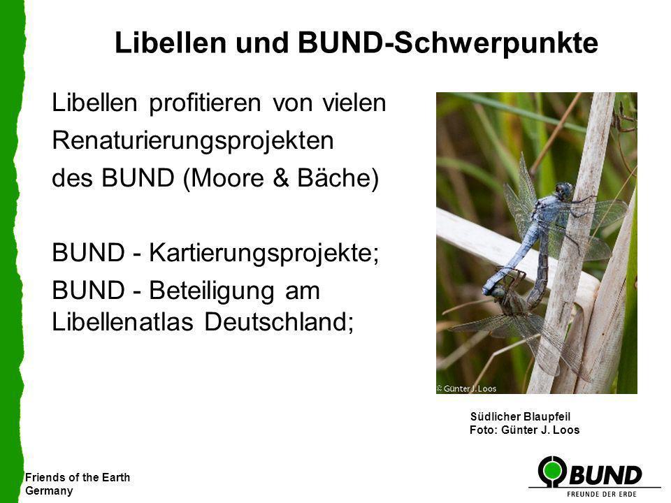 Libellen und BUND-Schwerpunkte