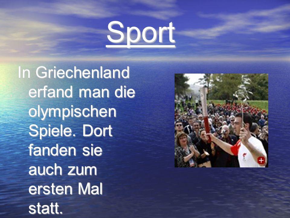 Sport In Griechenland erfand man die olympischen Spiele.