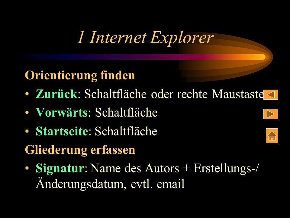 1 Internet Explorer Orientierung finden