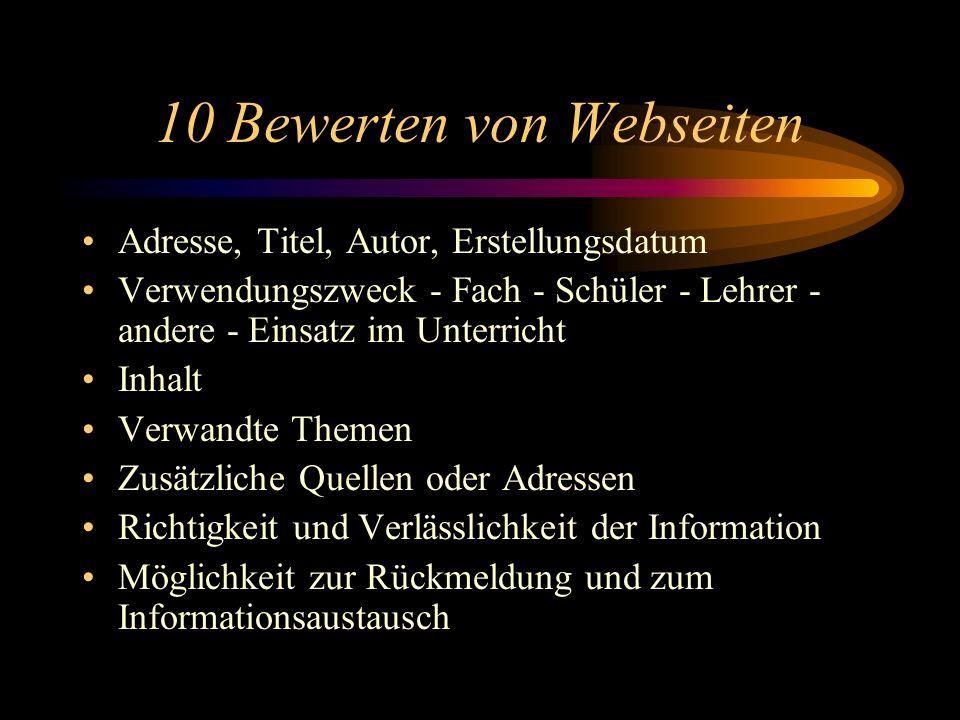 10 Bewerten von Webseiten