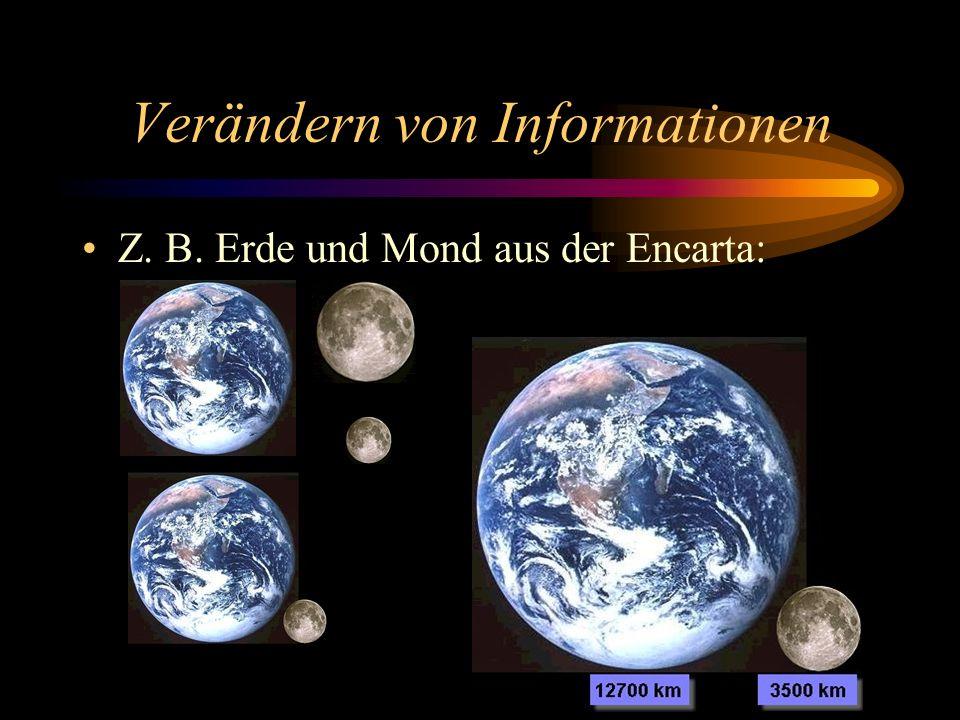 Verändern von Informationen