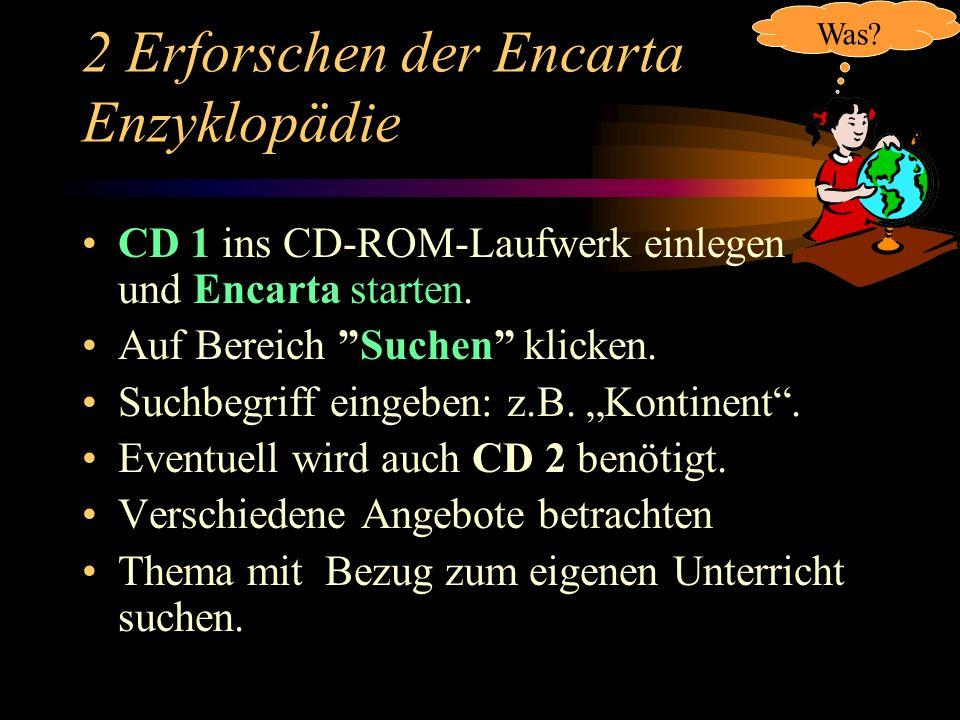 2 Erforschen der Encarta Enzyklopädie