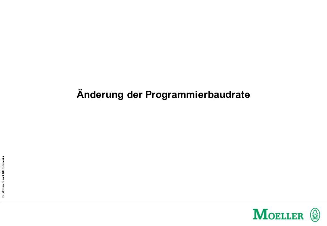 Änderung der Programmierbaudrate