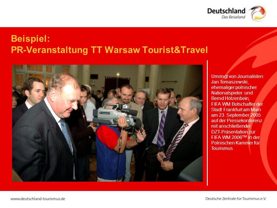 Beispiel: PR-Veranstaltung TT Warsaw Tourist&Travel