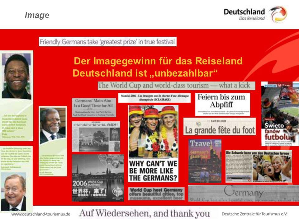 """Image :Der Imagegewinn für das Reiseland Deutschland ist """"unbezahlbar"""